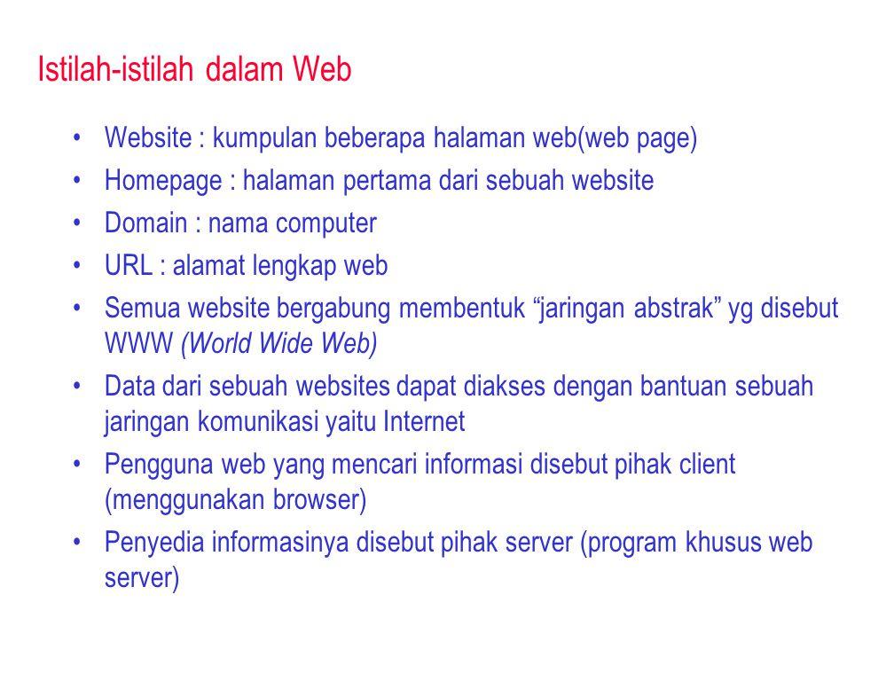 Istilah-istilah dalam Web