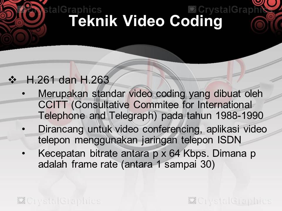 Teknik Video Coding H.261 dan H.263