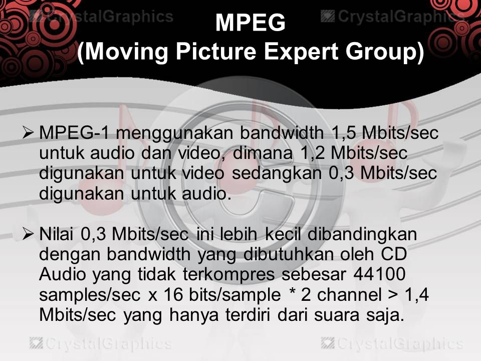 MPEG (Moving Picture Expert Group)