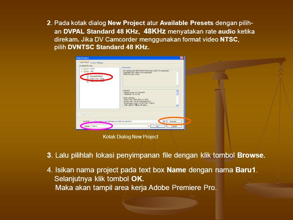 3. Lalu pilihlah lokasi penyimpanan file dengan klik tombol Browse.