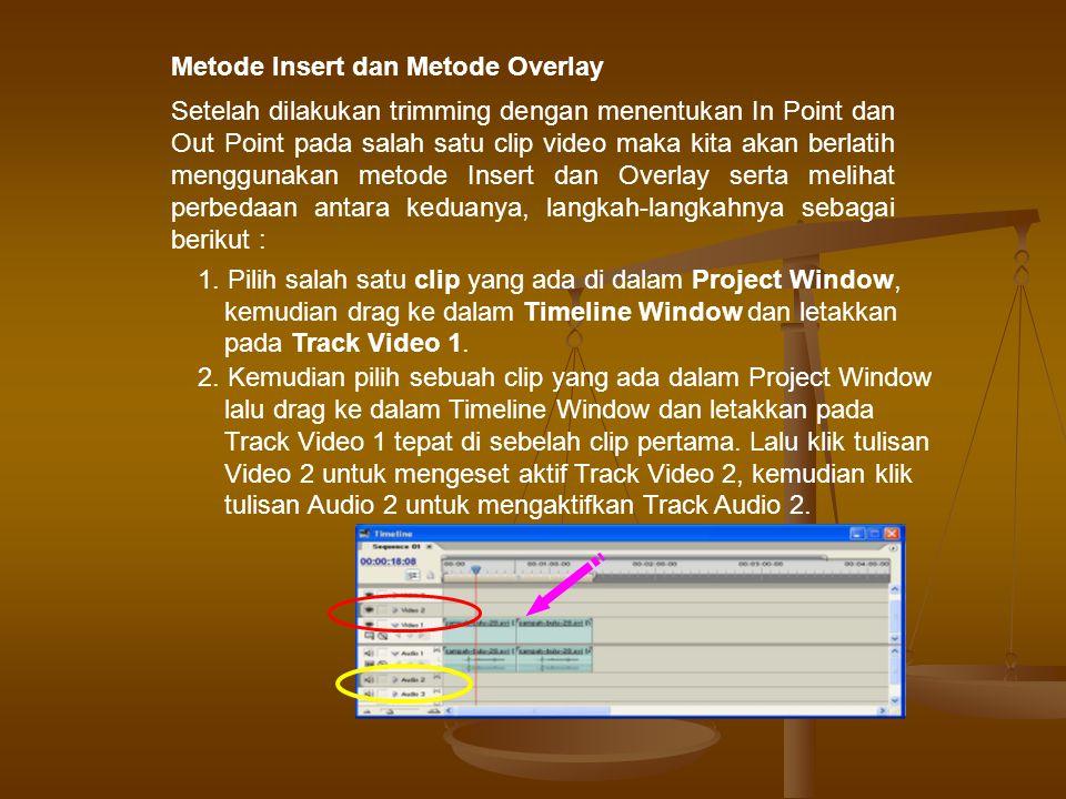 Metode Insert dan Metode Overlay