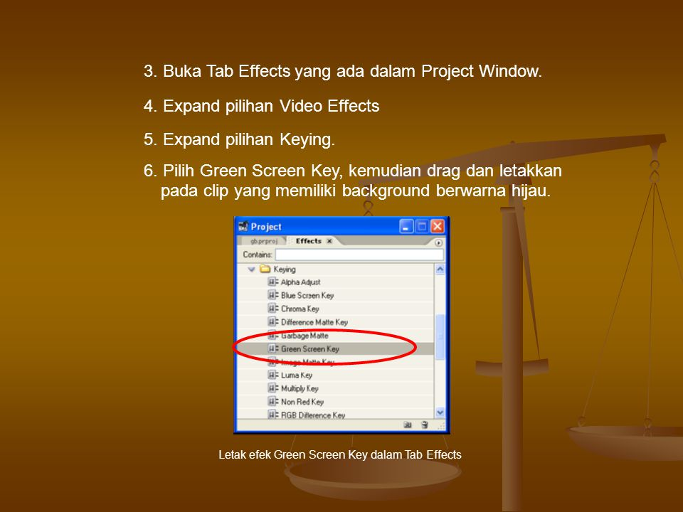 3. Buka Tab Effects yang ada dalam Project Window.