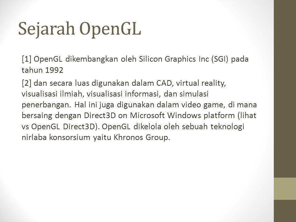 Sejarah OpenGL