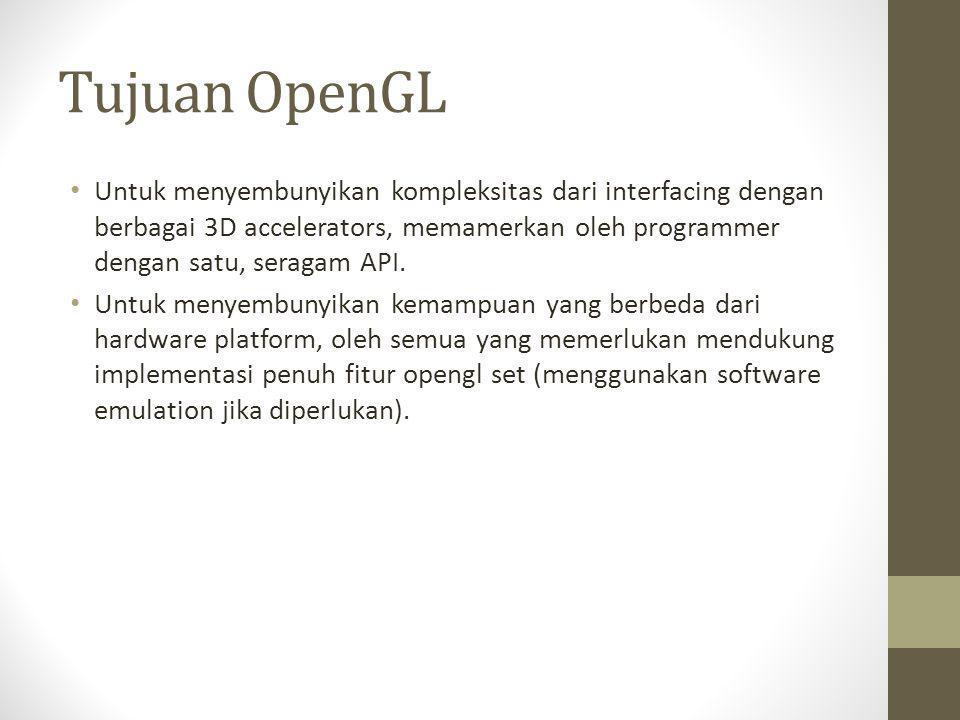 Tujuan OpenGL