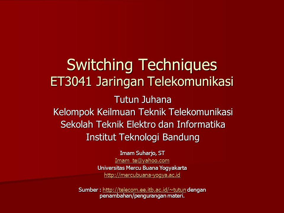 Switching Techniques ET3041 Jaringan Telekomunikasi