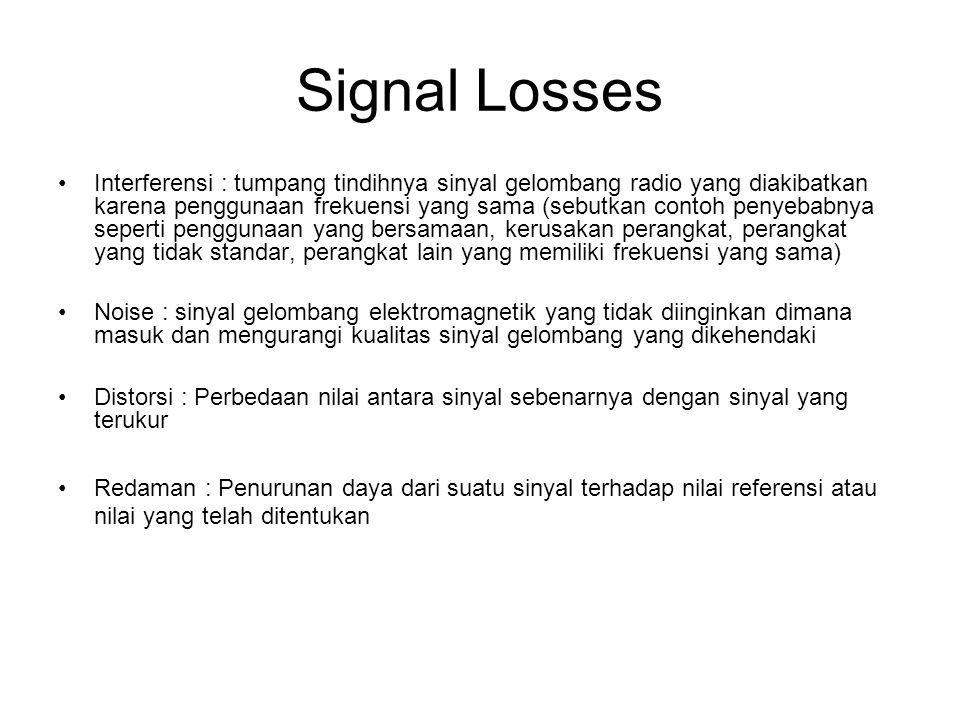 Signal Losses