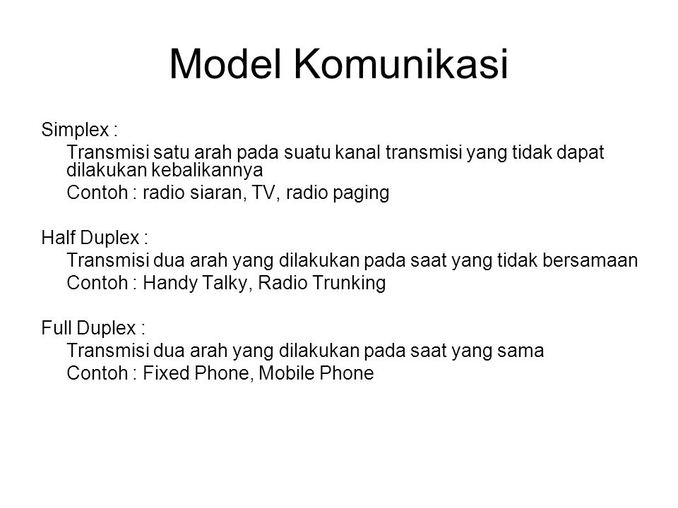 Model Komunikasi Simplex :