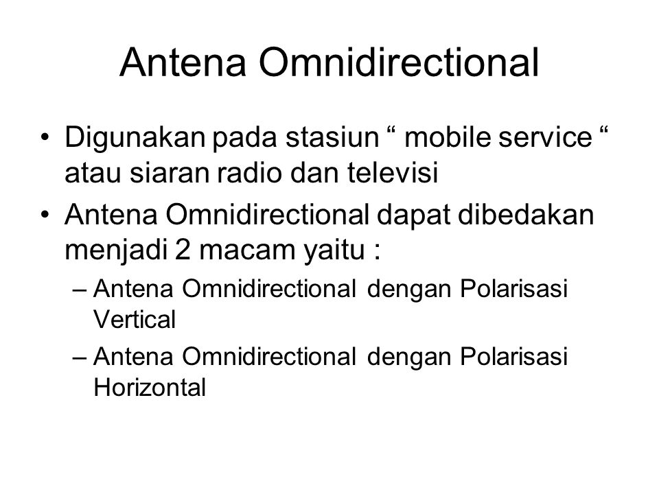 Antena Omnidirectional