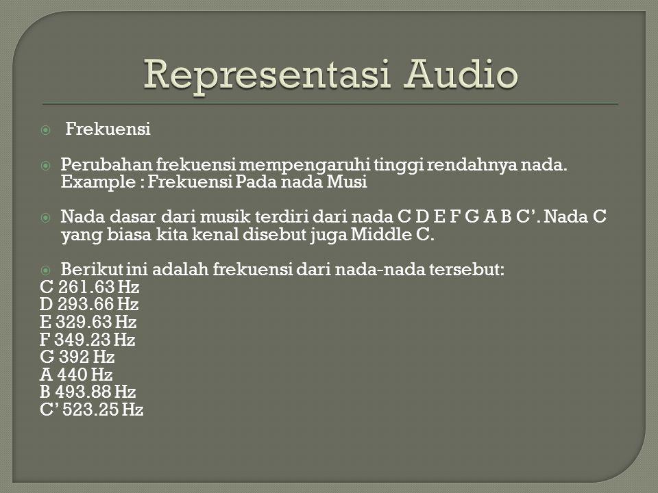 Representasi Audio Frekuensi