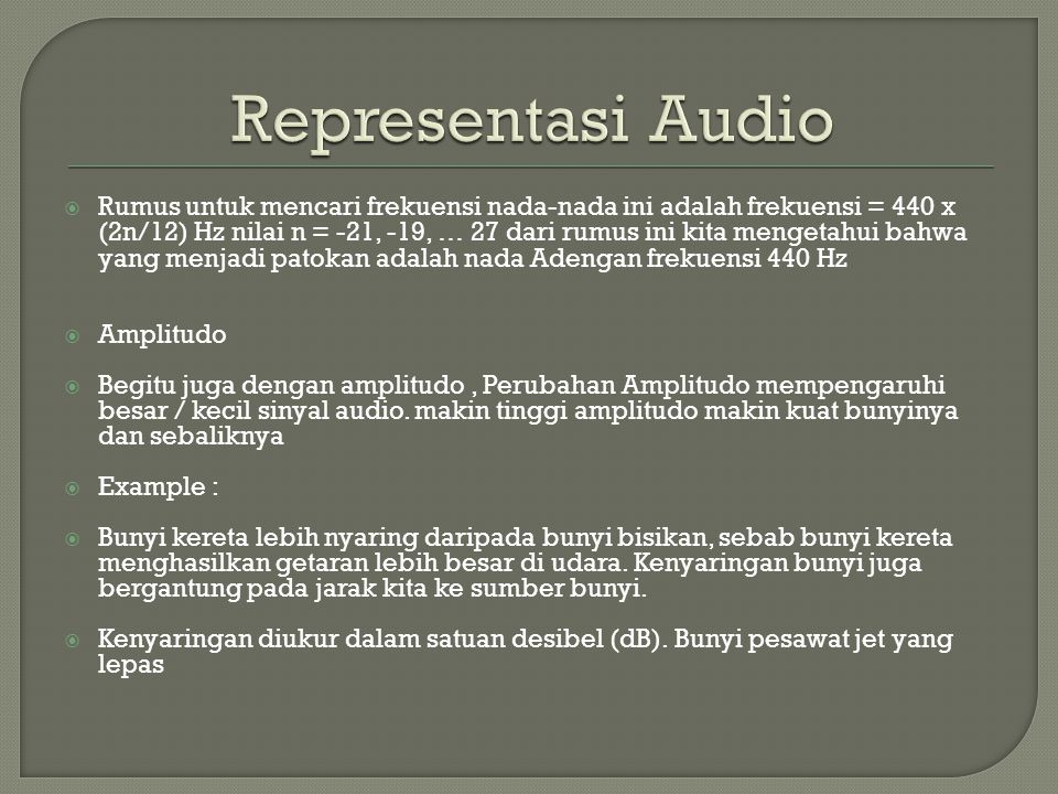 Representasi Audio