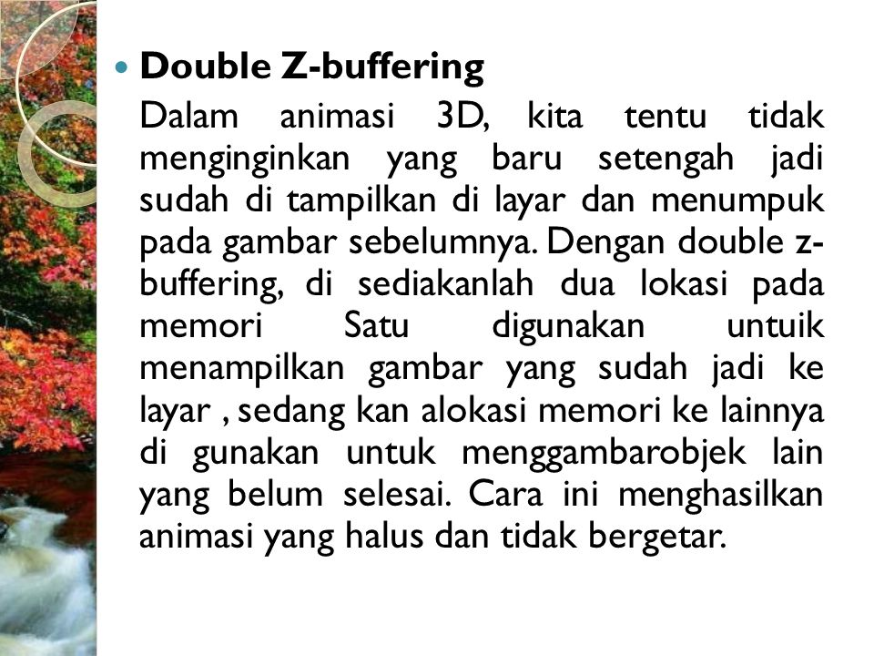 Double Z-buffering