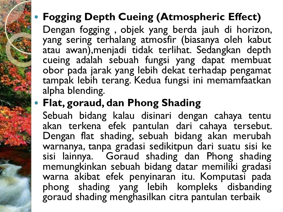 Fogging Depth Cueing (Atmospheric Effect)