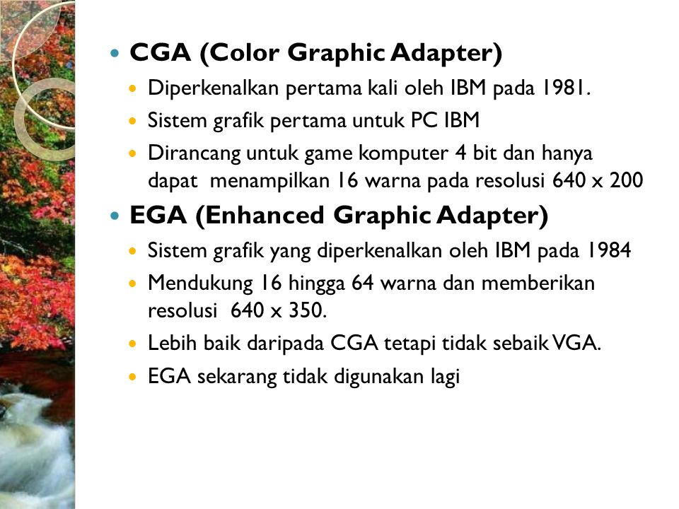 CGA (Color Graphic Adapter)