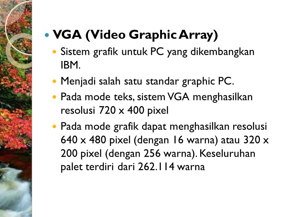 VGA (Video Graphic Array)
