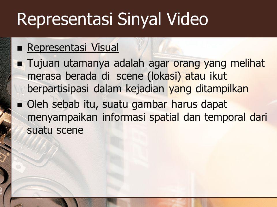 Representasi Sinyal Video