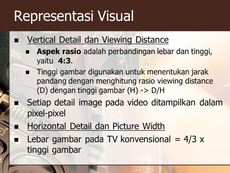 Representasi Visual Vertical Detail dan Viewing Distance
