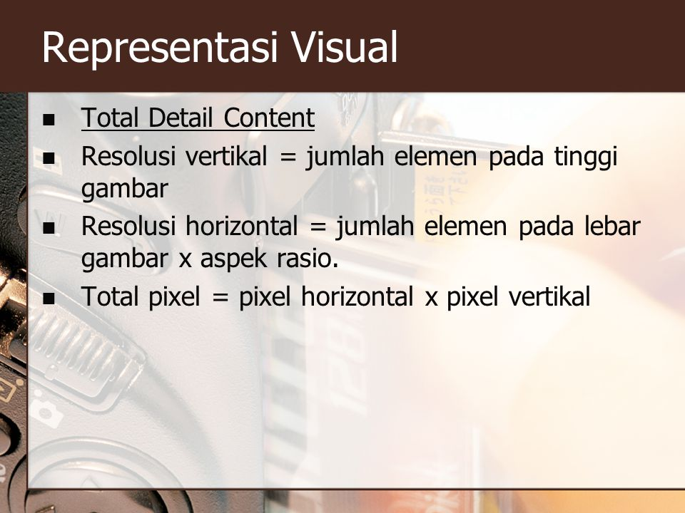 Representasi Visual Total Detail Content