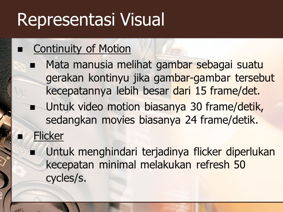 Representasi Visual Continuity of Motion