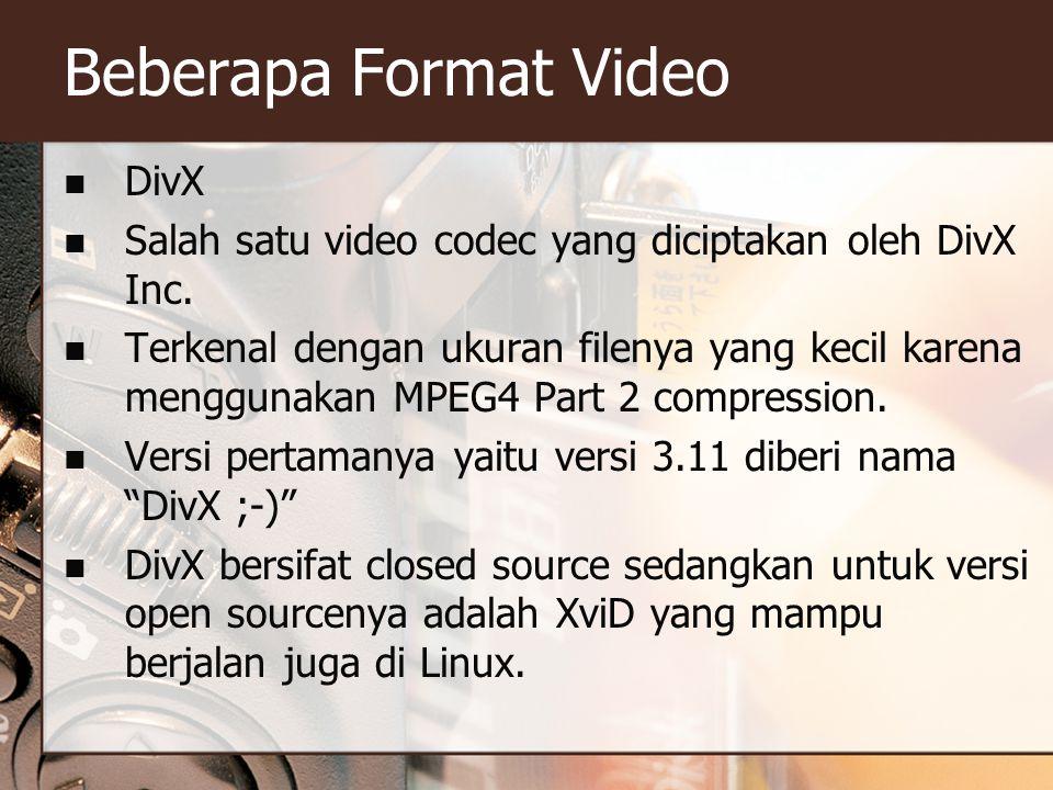 Beberapa Format Video DivX