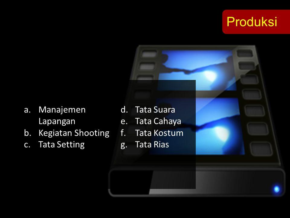 Produksi Manajemen Lapangan Tata Suara Tata Cahaya Kegiatan Shooting