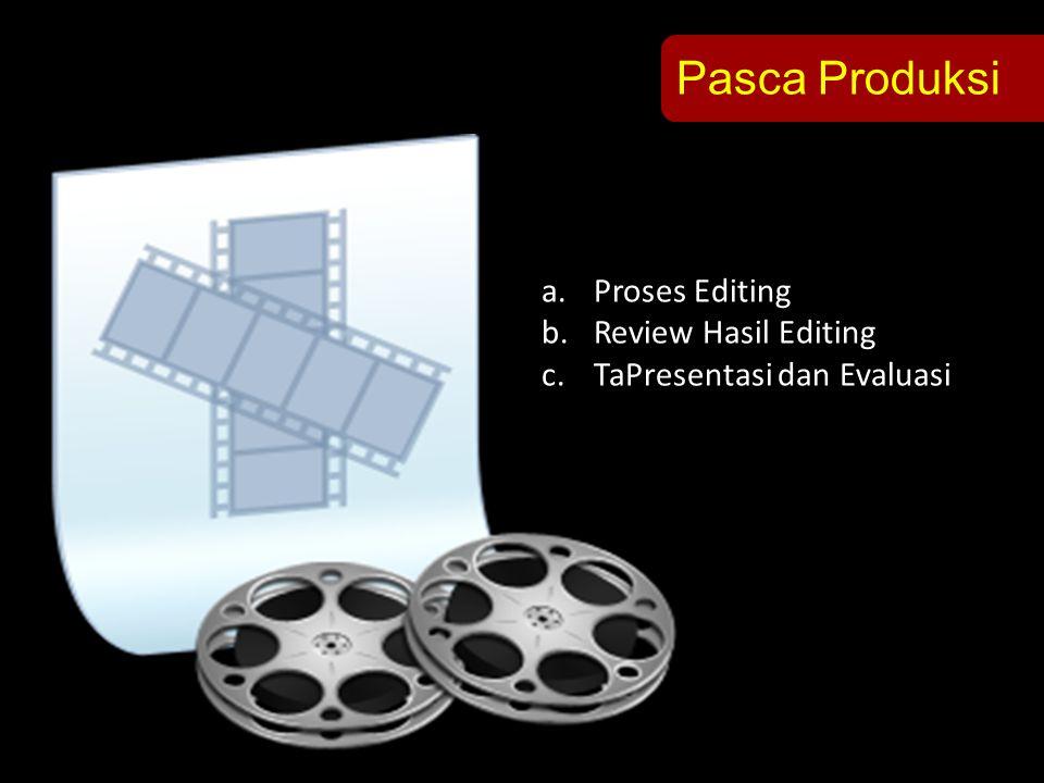 Pasca Produksi Proses Editing Review Hasil Editing