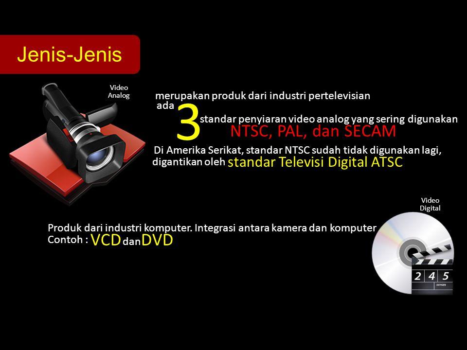 3 Jenis-Jenis NTSC, PAL, dan SECAM VCD DVD