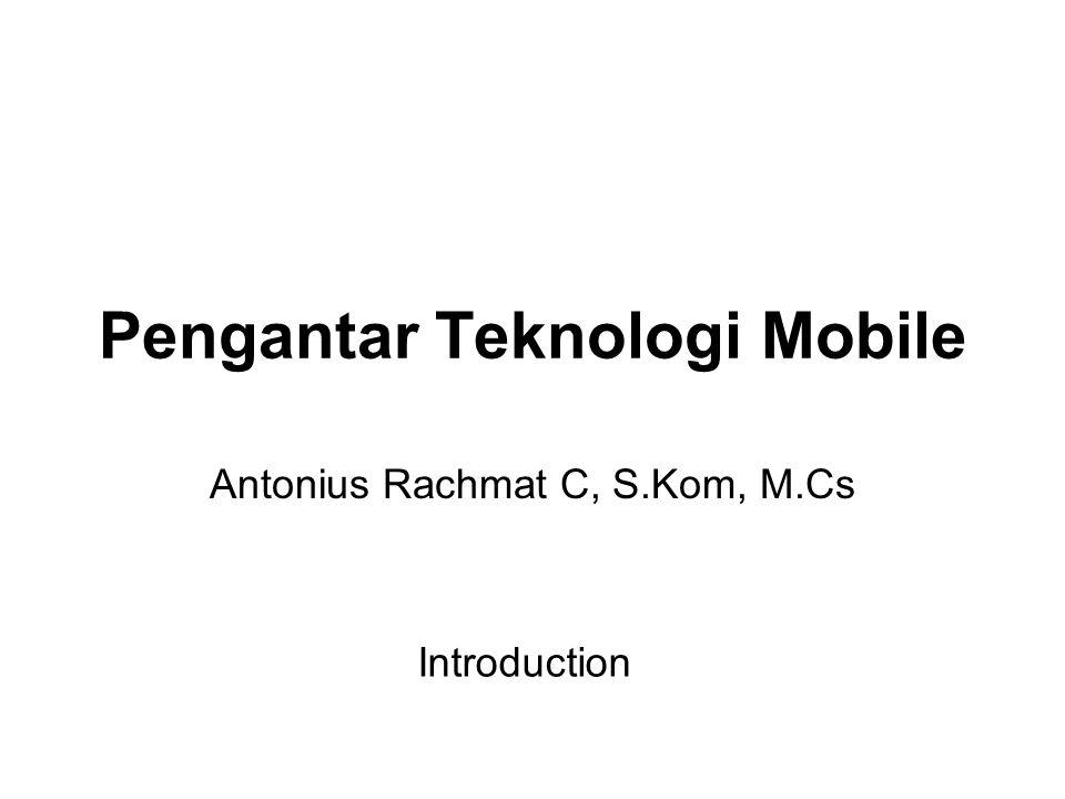 Pengantar Teknologi Mobile