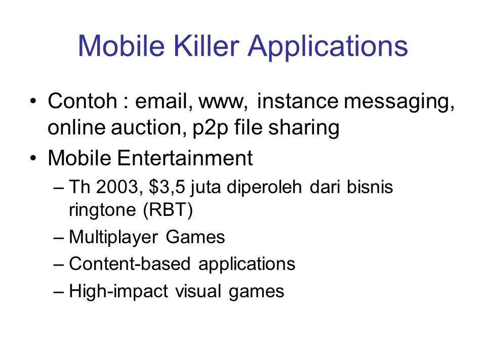 Mobile Killer Applications