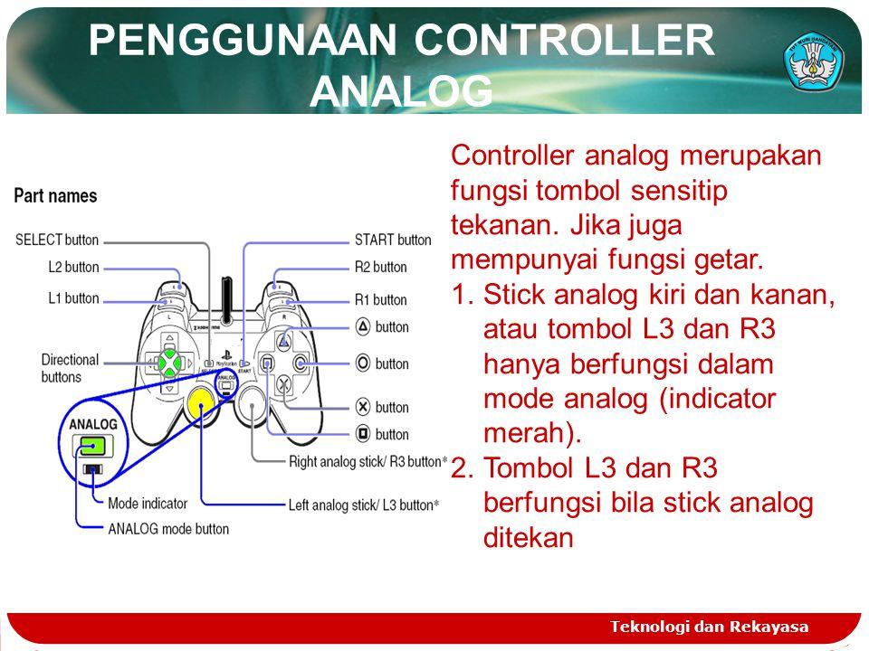 PENGGUNAAN CONTROLLER ANALOG