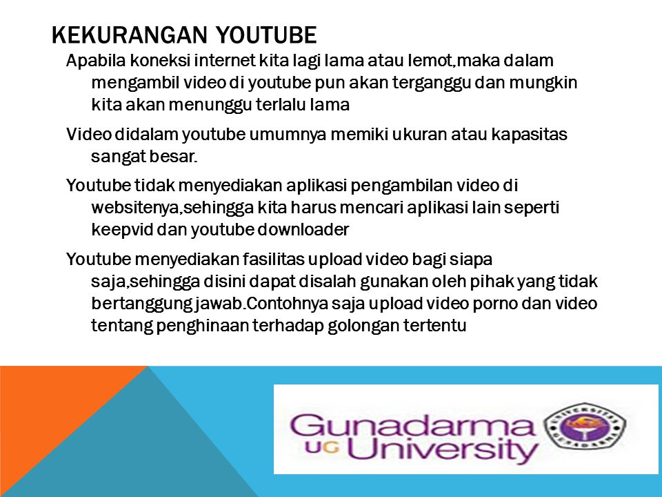 KEKURANGAN YOUTUBE