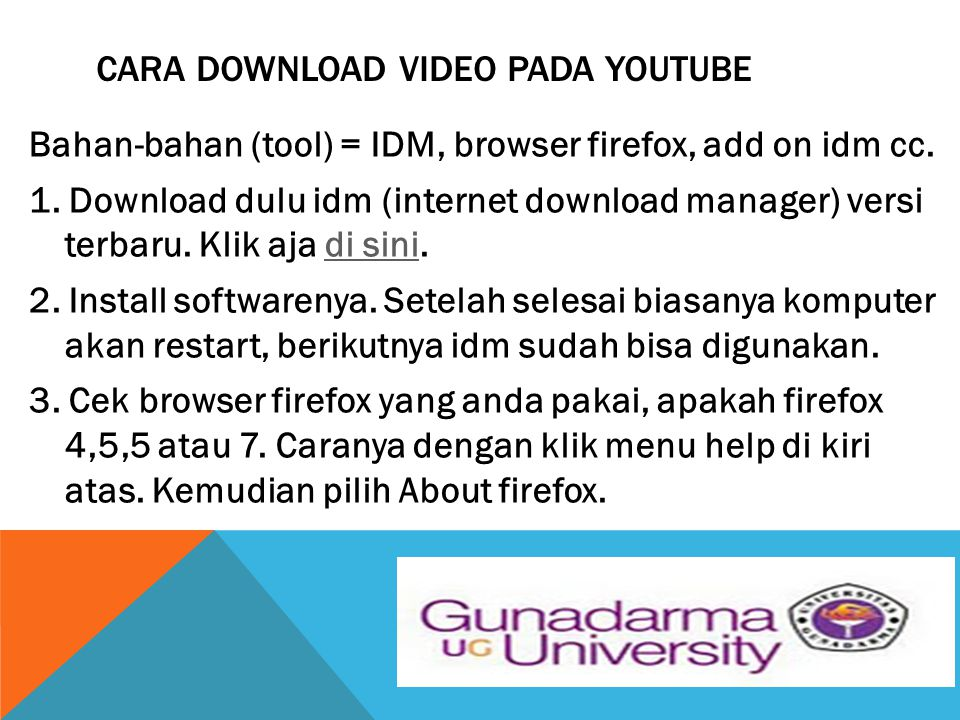 CARA DOWNLOAD VIDEO PADA YOUTUBE