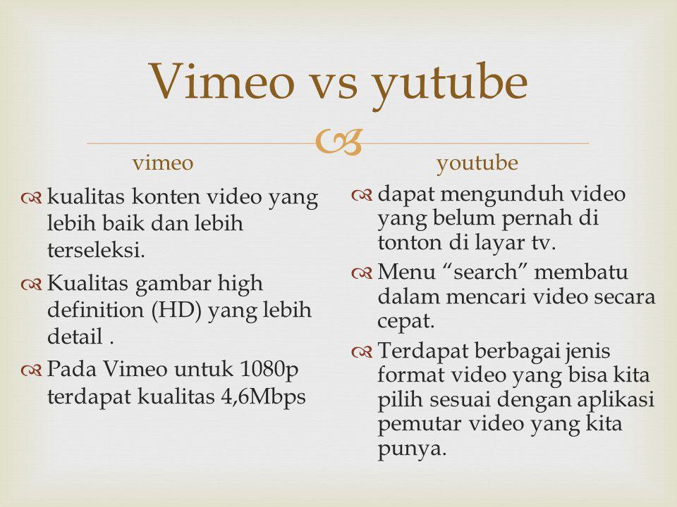 Vimeo vs yutube vimeo youtube