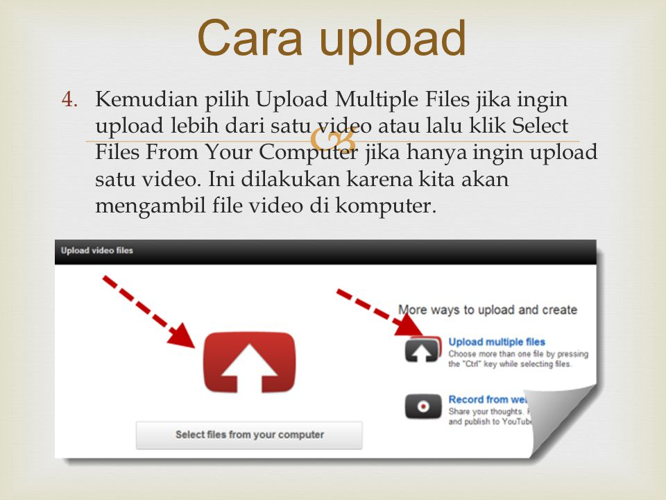 Cara upload