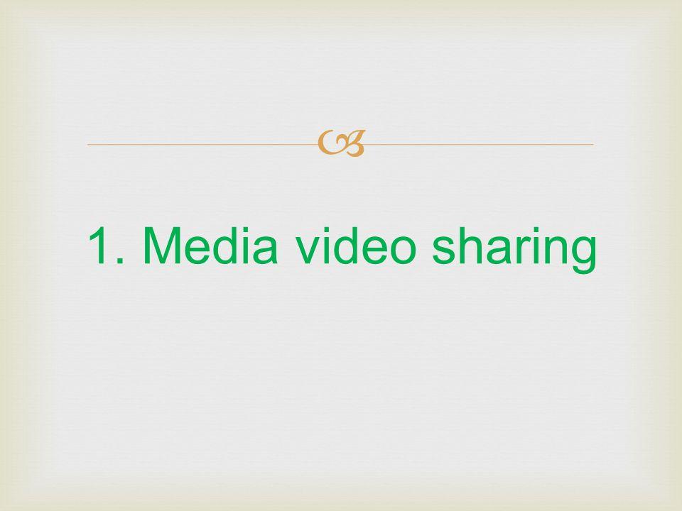 1. Media video sharing