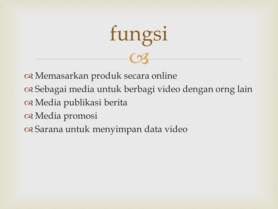 fungsi Memasarkan produk secara online