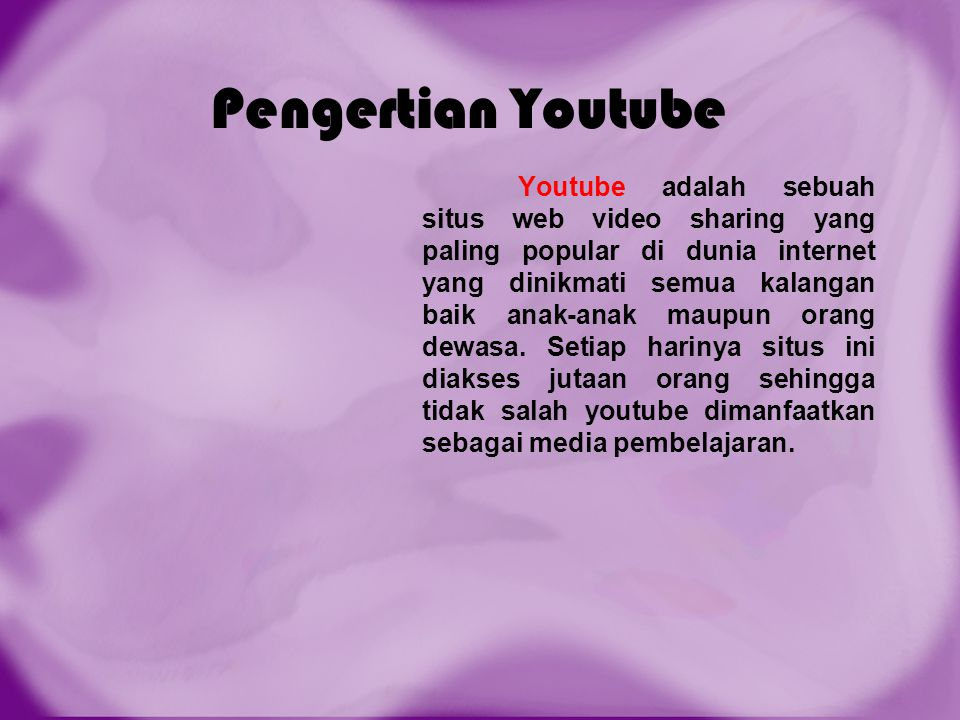 Pengertian Youtube