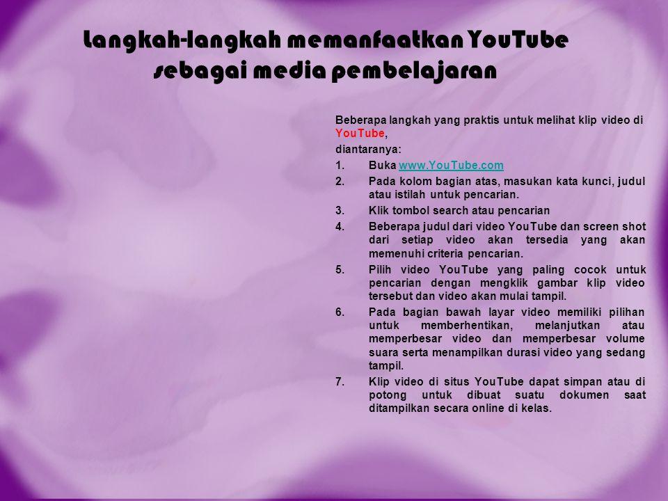 Langkah-langkah memanfaatkan YouTube sebagai media pembelajaran