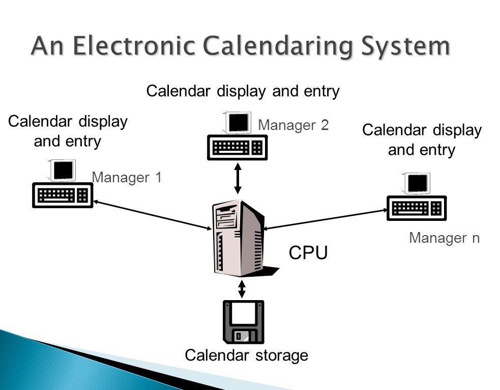An Electronic Calendaring System