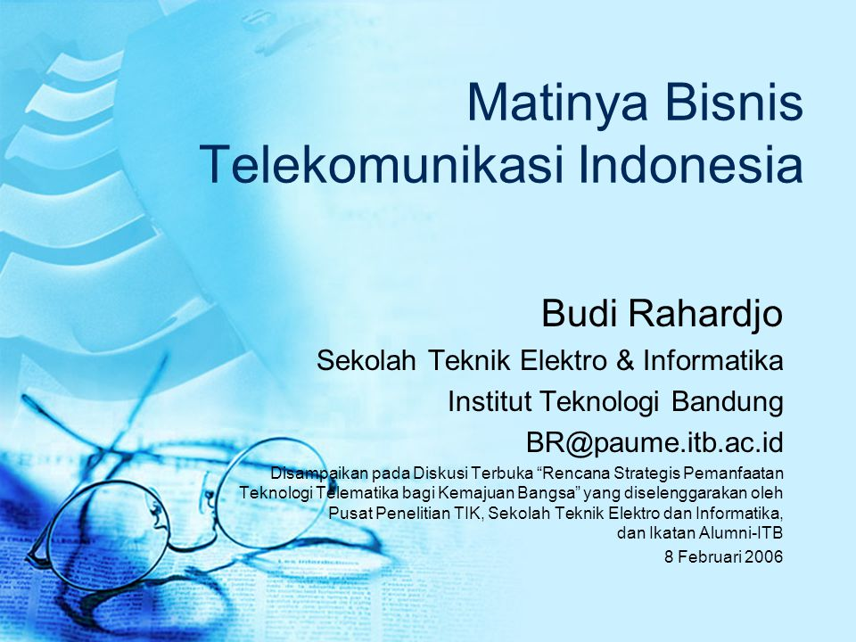 Matinya Bisnis Telekomunikasi Indonesia