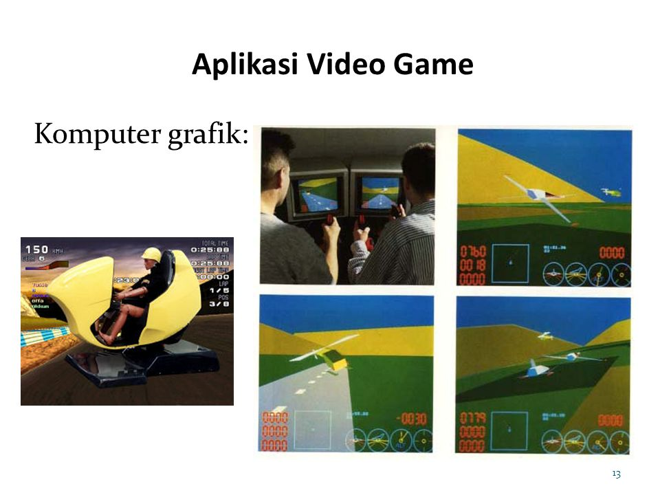 Aplikasi Video Game Komputer grafik: