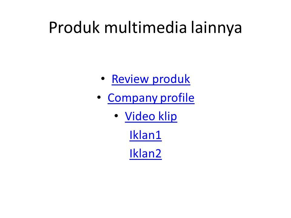 Produk multimedia lainnya