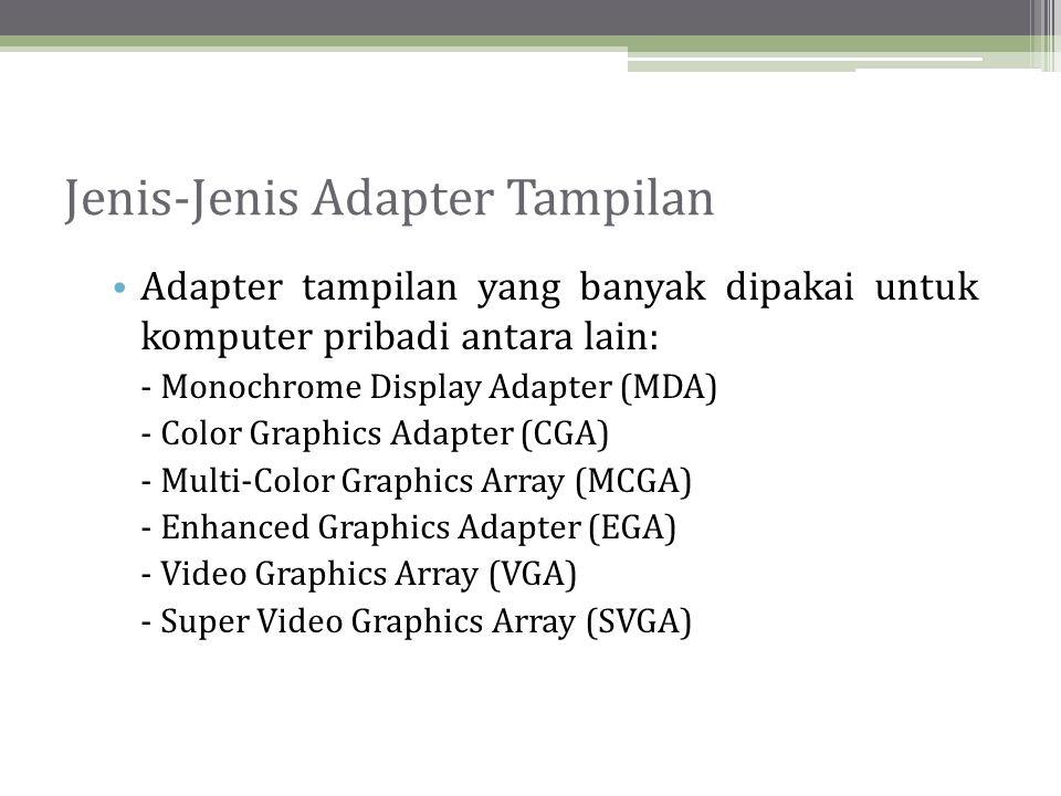 Jenis-Jenis Adapter Tampilan