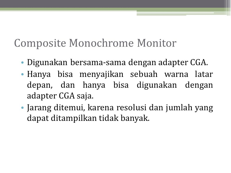 Composite Monochrome Monitor
