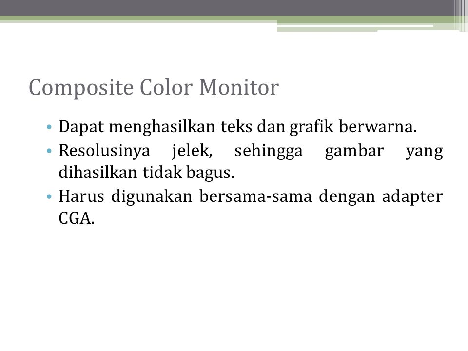 Composite Color Monitor