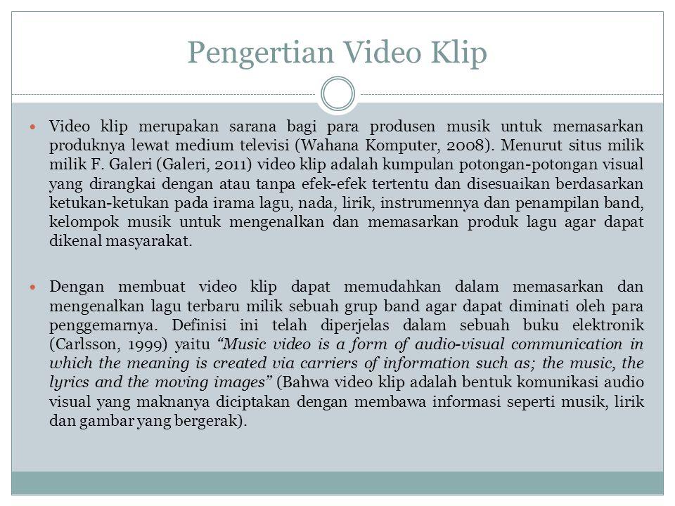 Pengertian Video Klip