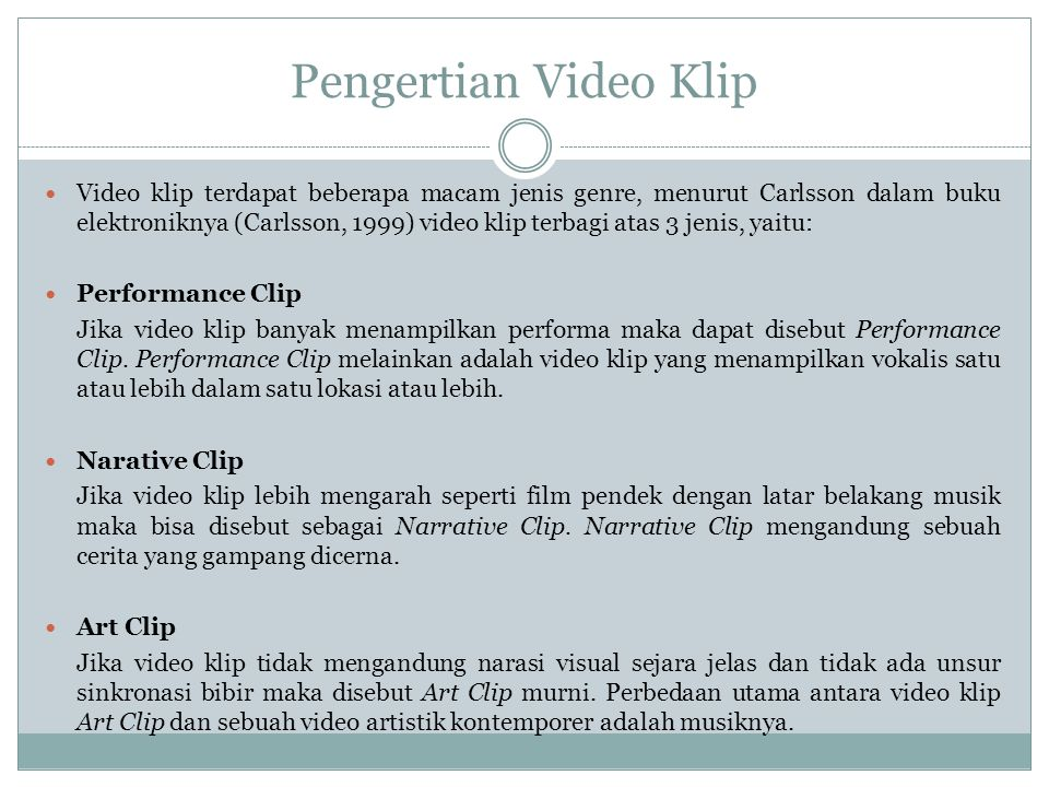 Pengertian Video Klip