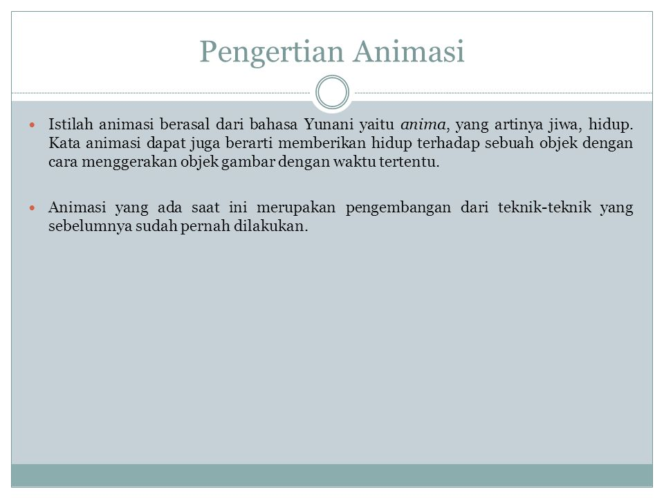 Pengertian Animasi