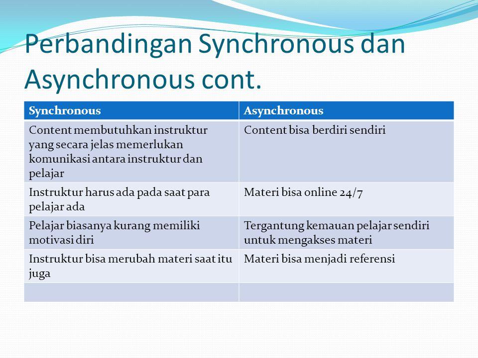 Perbandingan Synchronous dan Asynchronous cont.