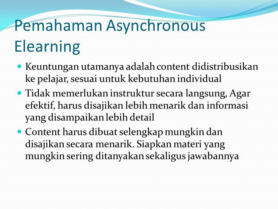 Pemahaman Asynchronous Elearning
