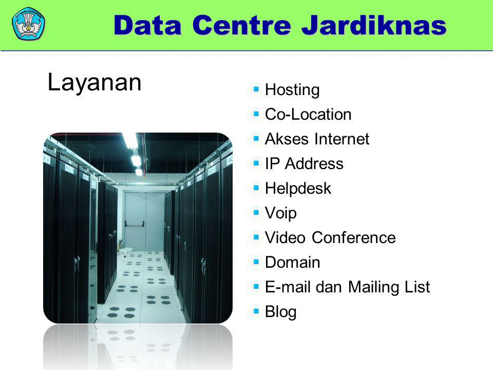 Data Centre Jardiknas Layanan Hosting Co-Location Akses Internet